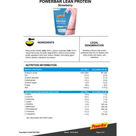 PowerBar Lean Protein Mochila/Bolsa 500g, Strawberry